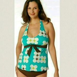 NWT Maternity Tankini Prego 2pc L Swimsuit